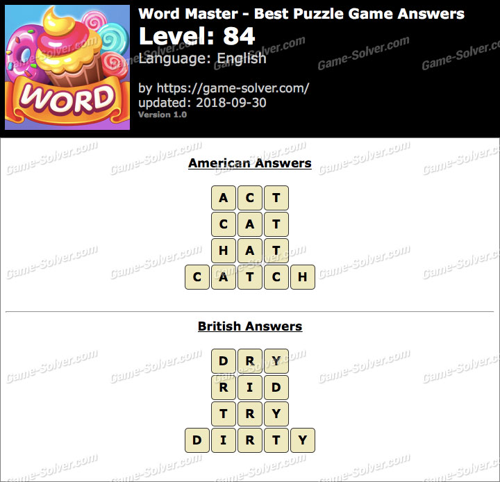Word Master-Best Puzzle Game Level 84 Answers