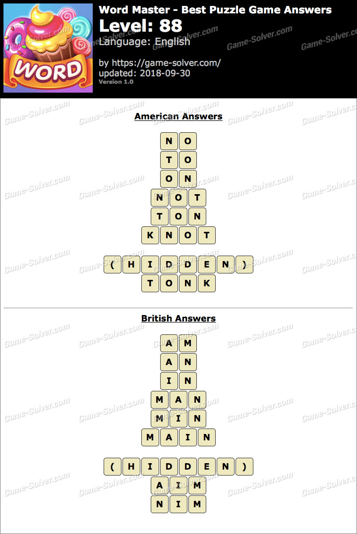 Word Master-Best Puzzle Game Level 88 Answers