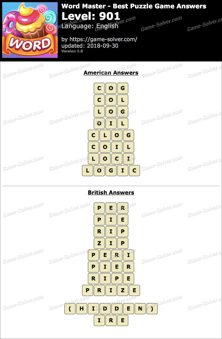 Word Master-Best Puzzle Game Level 901 Answers