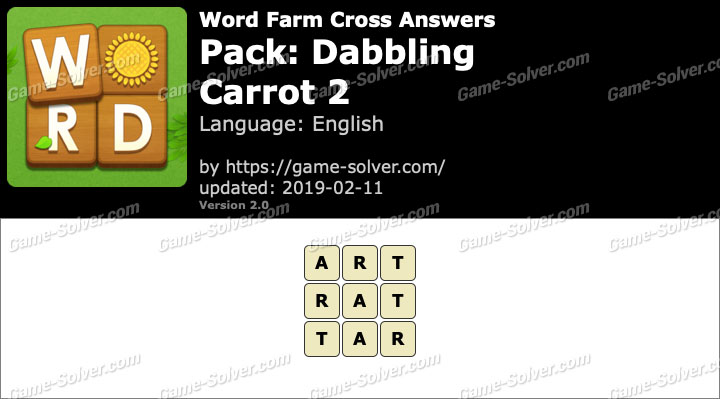 Word Farm Dabbling Carrot 2 Answers