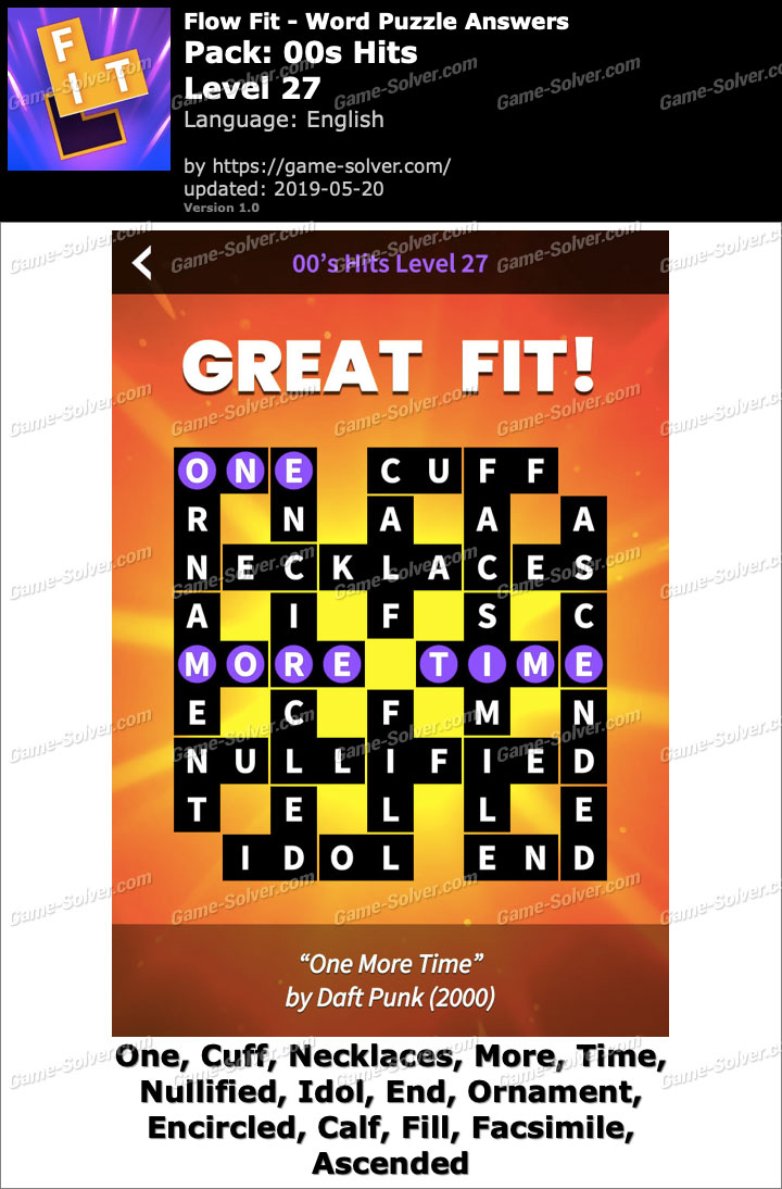 Flow Fit 00s Hits-Level 27 Answers