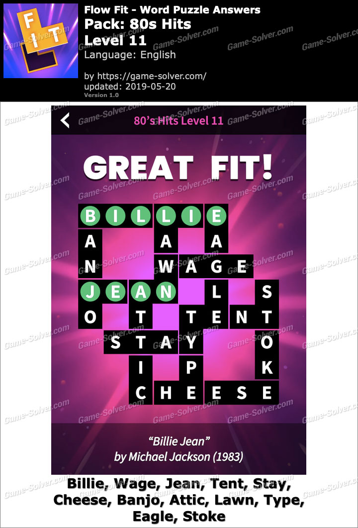 Flow Fit 80s Hits-Level 11 Answers