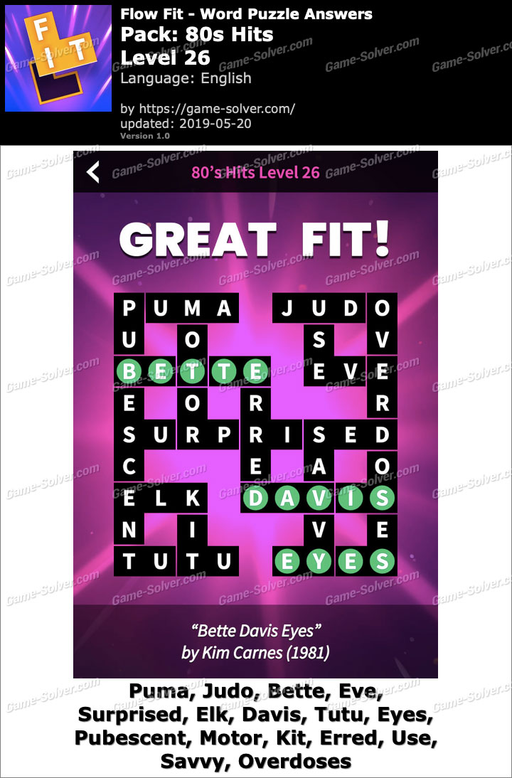 Flow Fit 80s Hits-Level 26 Answers