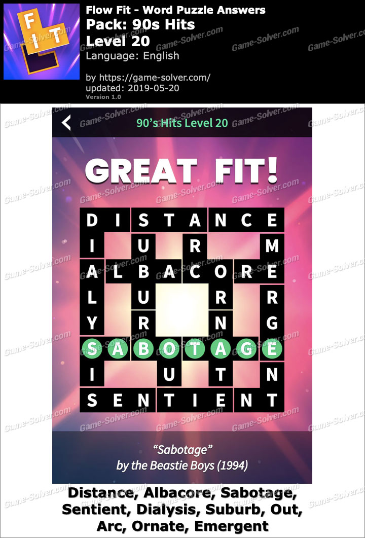 Flow Fit 90s Hits-Level 20 Answers