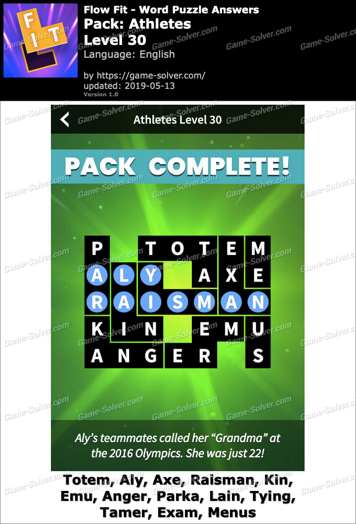 Flow Fit Athletes-Level 30 Answers