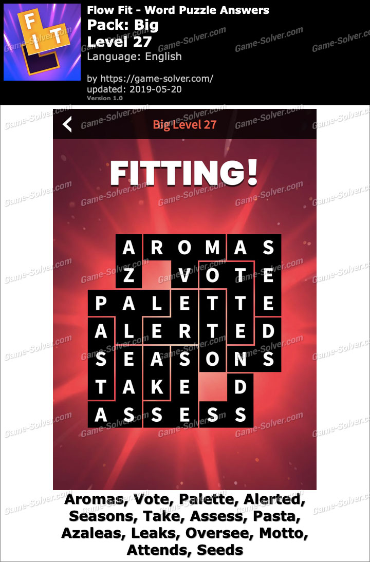 Flow Fit Big-Level 27 Answers