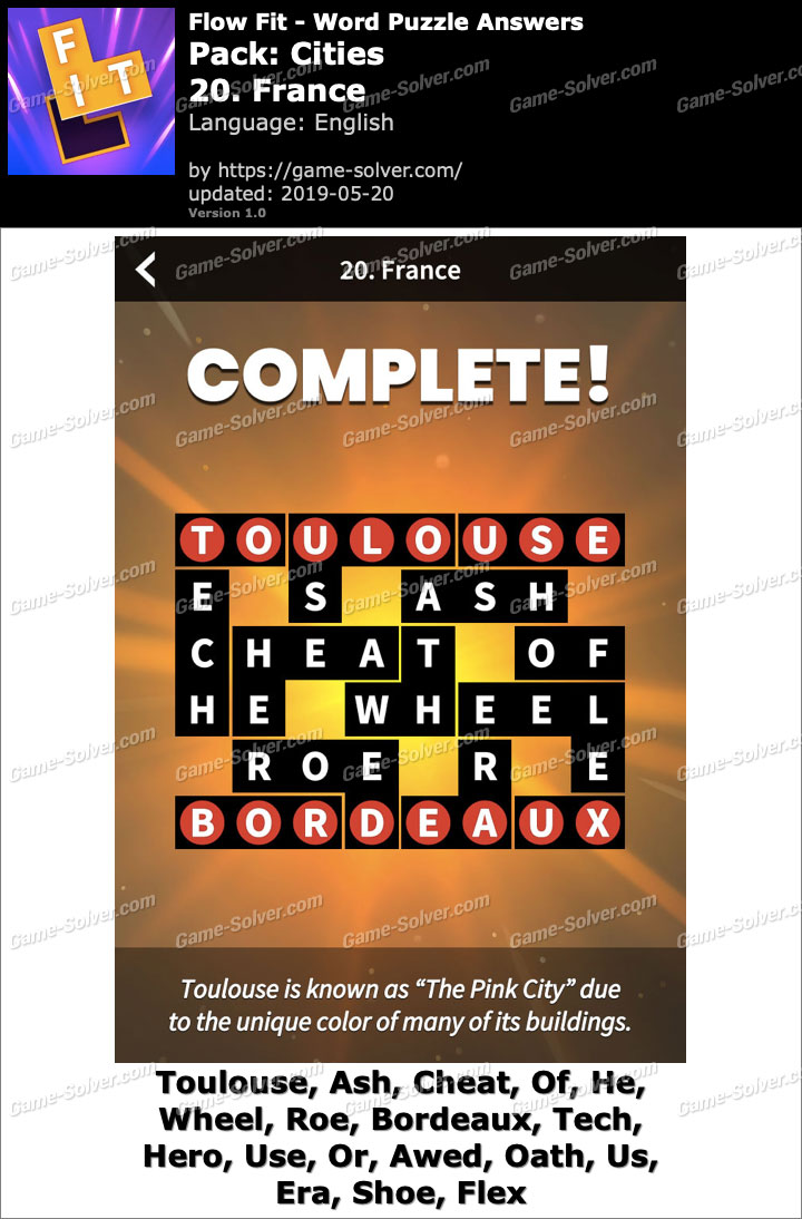 Flow Fit Cities-20 France Answers