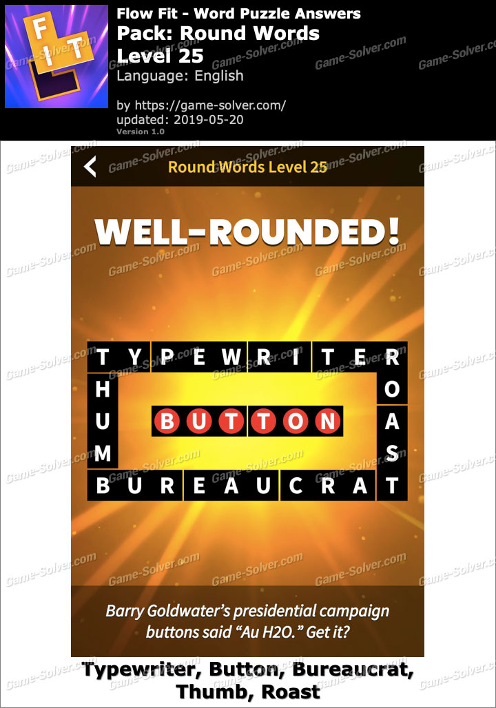 Flow Fit Round Words-Level 25 Answers