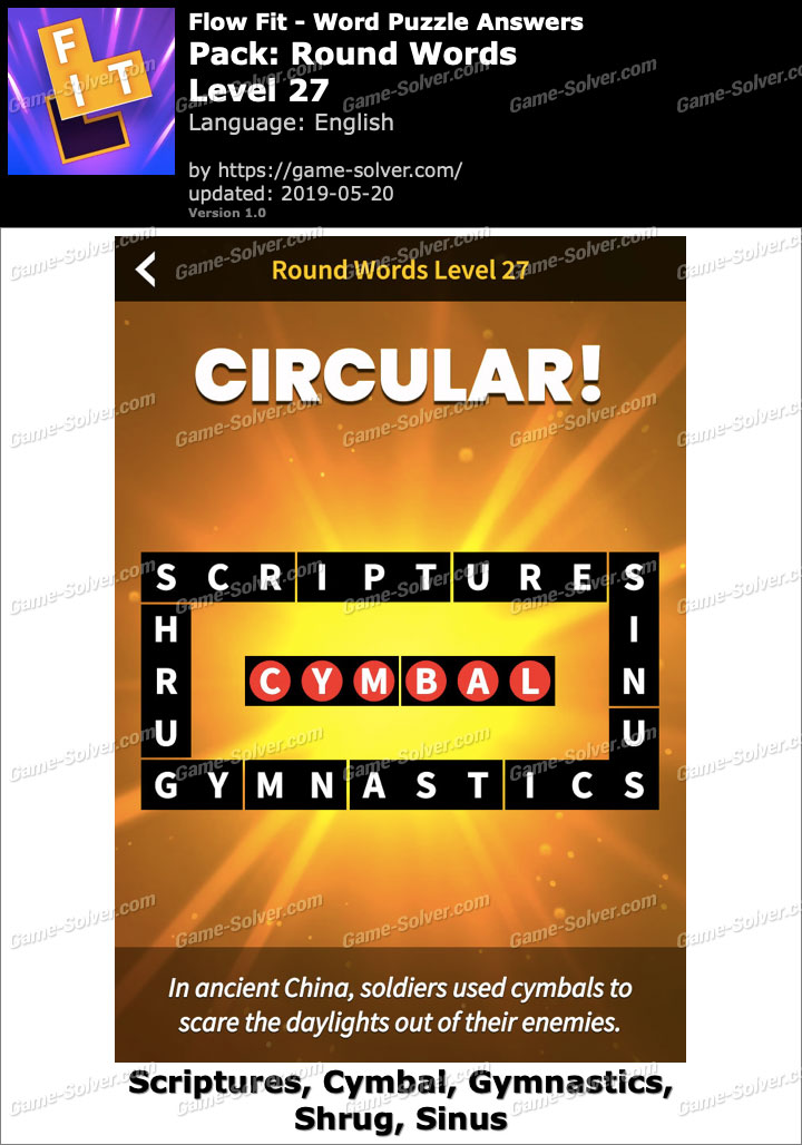 Flow Fit Round Words-Level 27 Answers