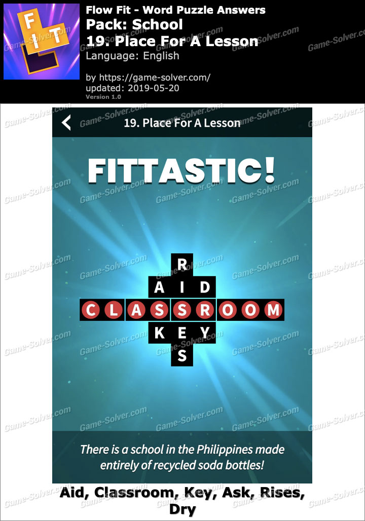 Flow Fit School-19 Place For A Lesson Answers