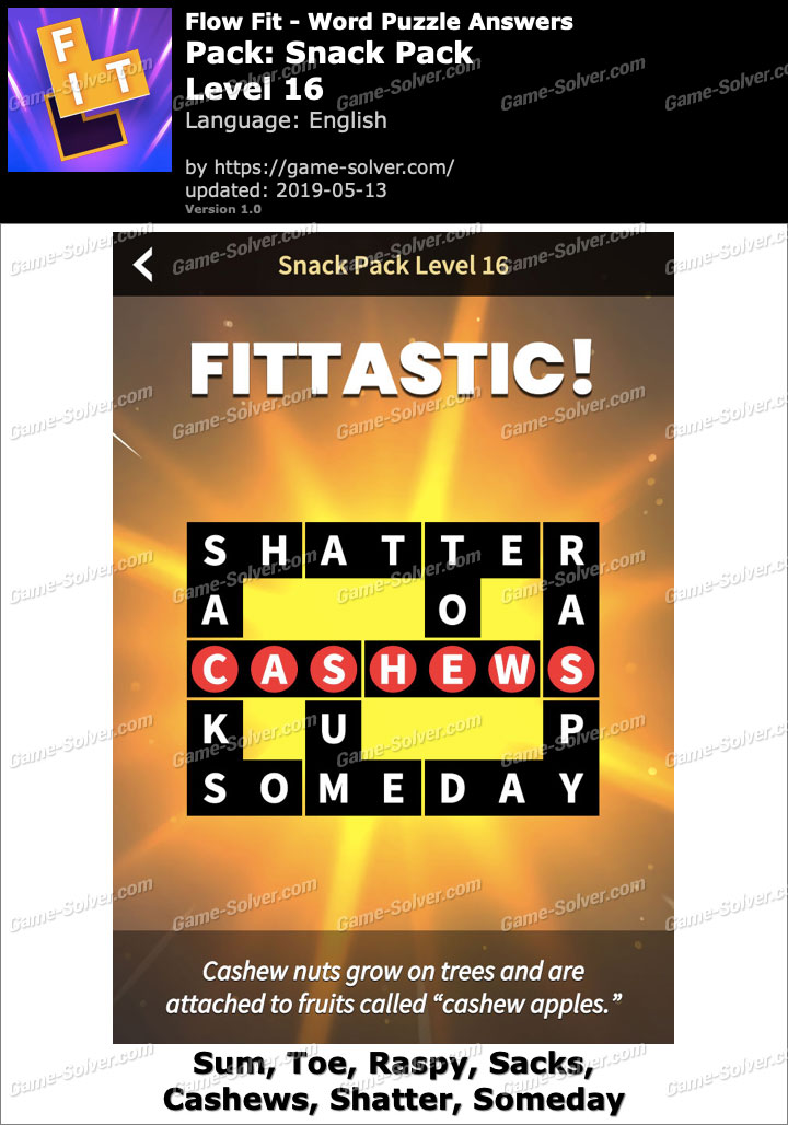 Flow Fit Snack Pack-Level 16 Answers