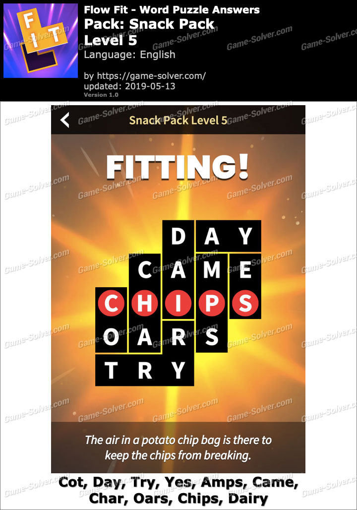 Flow Fit Snack Pack-Level 5 Answers