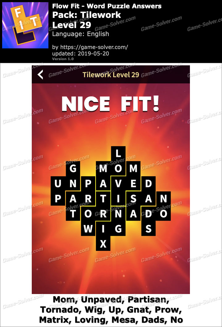 Flow Fit Tilework-Level 29 Answers