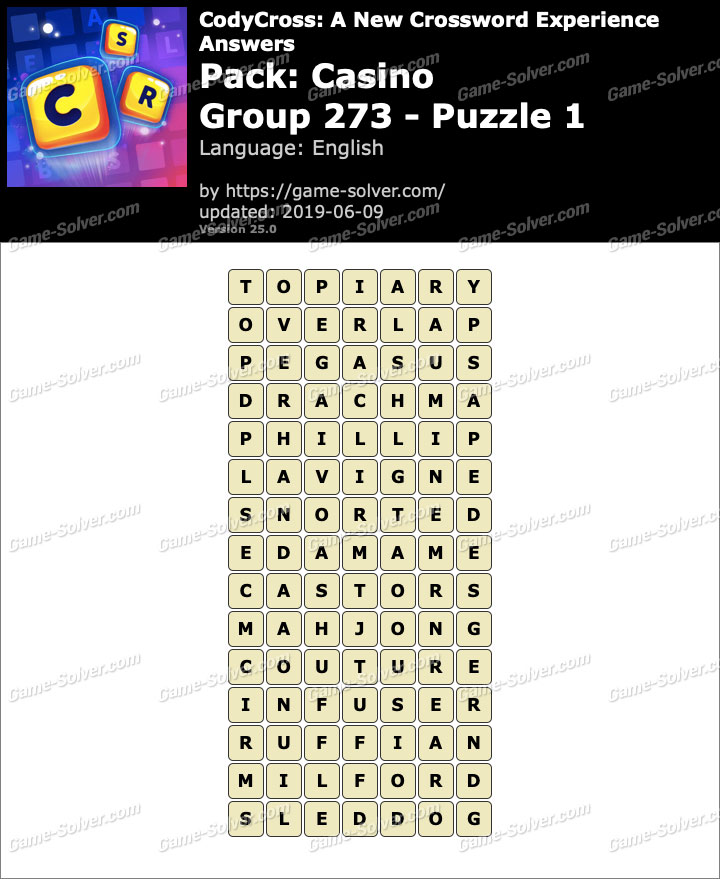 CodyCross Casino Group 273-Puzzle 1 Answers