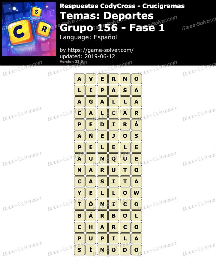 Respuestas CodyCross Deportes Grupo 156-Fase 1