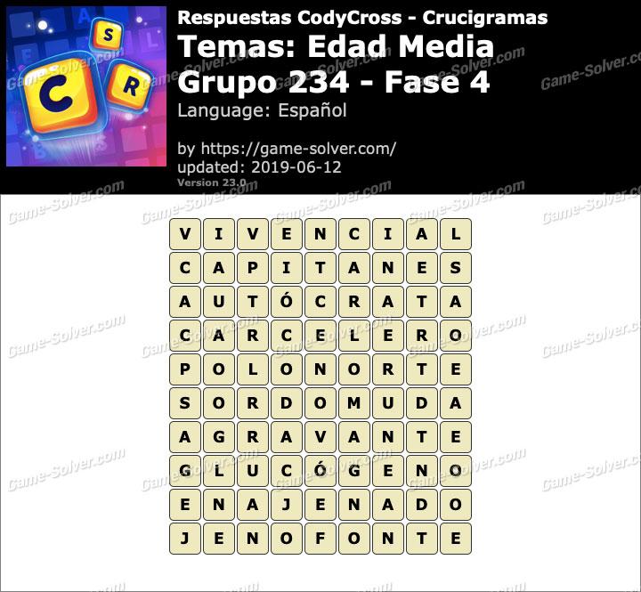 Respuestas CodyCross Edad Media Grupo 234-Fase 4