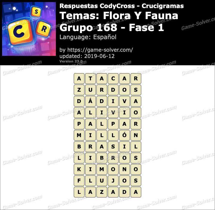 Respuestas CodyCross Flora y Fauna Grupo 168-Fase 1