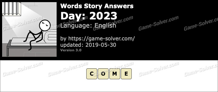 Words Story Day 2023 Answers