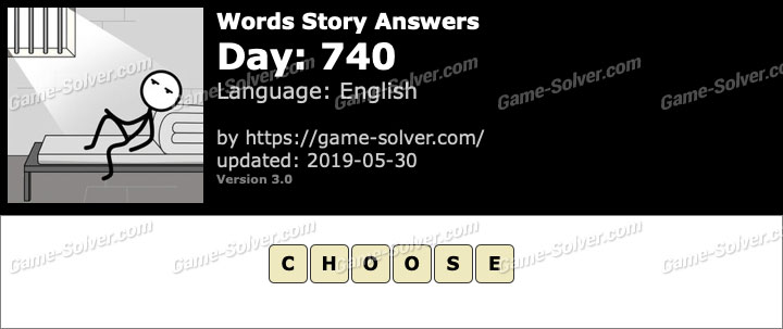 Words Story Day 740 Answers